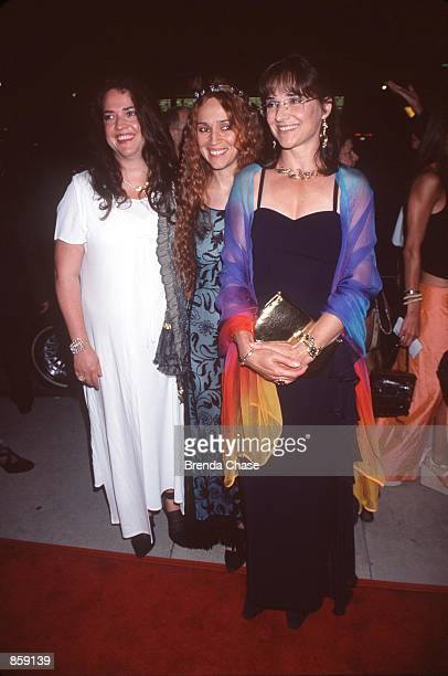 """Westwood, CA. Stanley Kubrick's daughters at the premiere of his last film, """"Eyes Wide Shut."""" From l-r: Anya, Vivian and Katharine. Photo by Brenda..."""