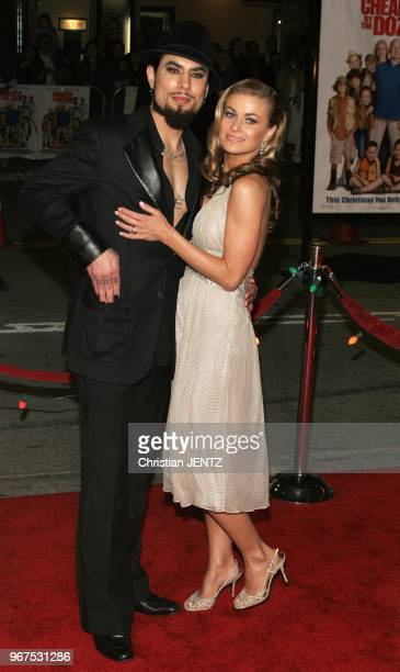 Westwood Dave Navarro and Carmen Electra attend The 20th Century Fox World Premiere of 'Cheaper By The Dozen 2' held at The Mann Village Theatres in...