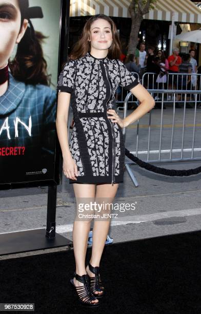 21/7/2009 Westwood Emmy Rossum at the Los Angeles Premiere of 'Orphan' held at the Mann Village Theater in Westwood California United States