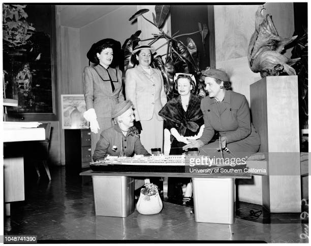 Westwood Hills Women's Club Committee planning party 14 March 1952 Mrs Leonard RogersMrs Benjamin AshleyMrs Willis AderMrs Edward BurnettMrs Douglas...