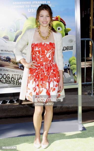 Westwood Jessica Biel at the Los Angeles Premiere of Planet 51 held at the Mann Village Theater in Hollywood California United States