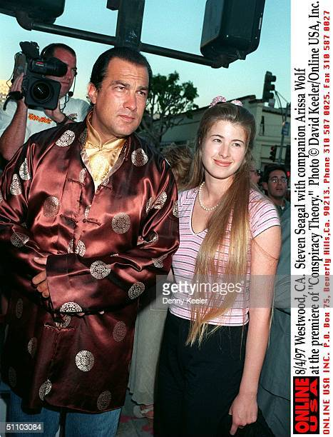 WestwoodCa Steven Seagal With Companion Arissa Wolf At The Premiere Of 'Conspiracy Theory'