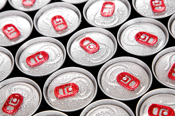 wet drink cans - energy drinks stock pictures, royalty-free photos & images