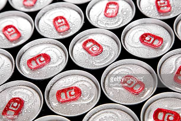 wet drink cans - energy drink stock pictures, royalty-free photos & images