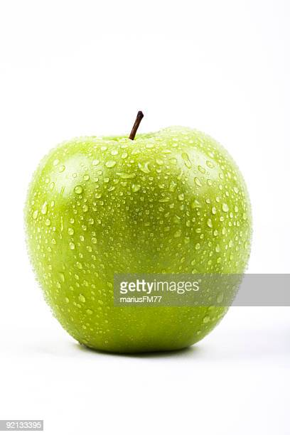 green apple con fregadero