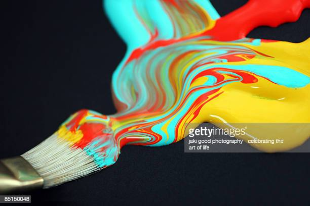 wet paint - mixing stock pictures, royalty-free photos & images