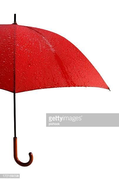 Wet roten Regenschirm mit Path