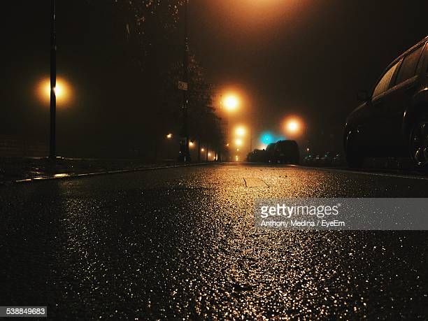 Wet Street At Night