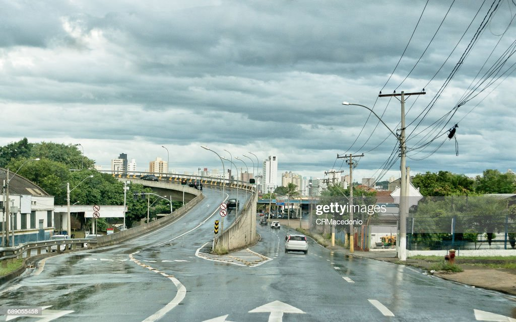 Wet streets : Stock Photo