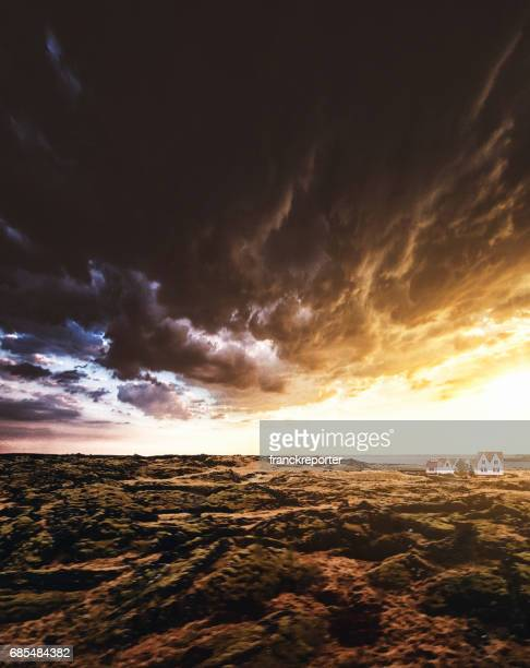 wet weather in iceland - westfjords iceland stock photos and pictures