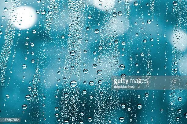 wet window water drops background