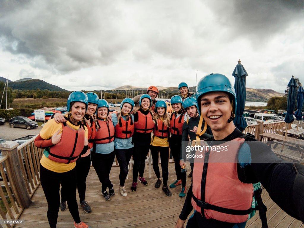 Wetsuit Selfie : Stock Photo