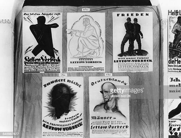 Wettbewerb des Freikorps LettowVorbeck für ein Werbeplakat Ausstellung derprämierten Entwürfe