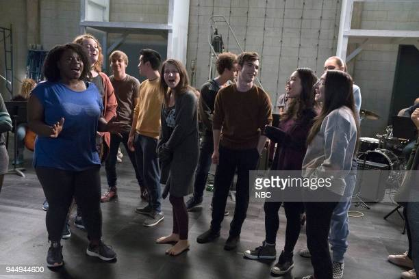 RISE 'We've All Got Our Junk' Episode 105 Pictured Tiffany Mann as Cheryl Shannon Purser as Anabelle Sean Grandillo as Jeremy Nacho Tambunting as...