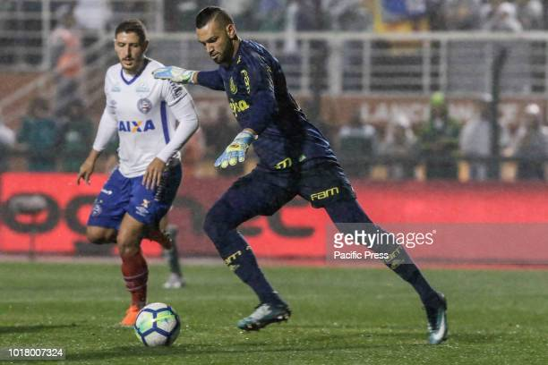 Weverton Pereira da Silva during a match between Palmeiras and Bahia a match valid for the quarterfinals of the Brazilian Cup held at the Pacaembu...