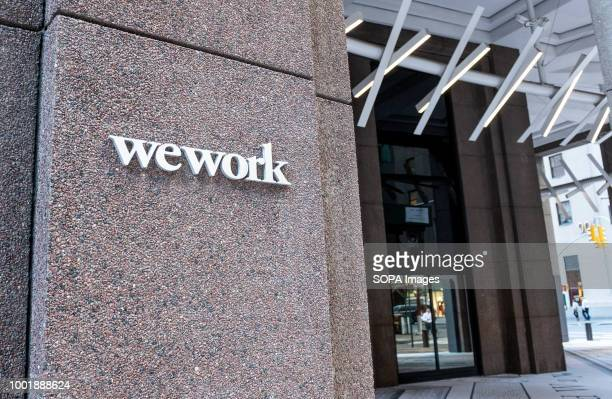 WeWork location in the Financial District in New York City.