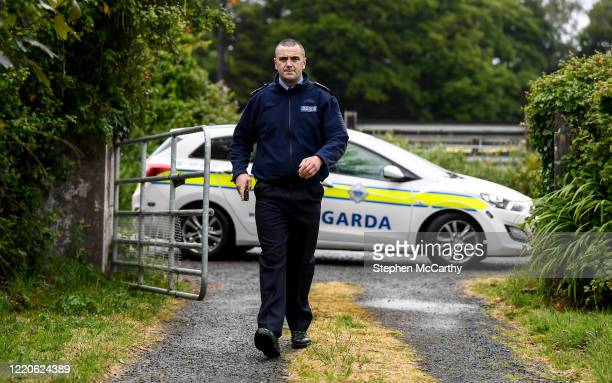 Wexford Ireland 17 June 2020 Professional boxer and member of An Garda Síochána Niall Kennedy during a routine visit to a house while on duty out of...