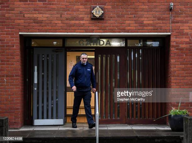 Wexford Ireland 17 June 2020 Professional boxer and member of An Garda Síochána Niall Kennedy on duty out of Wicklow Garda Station