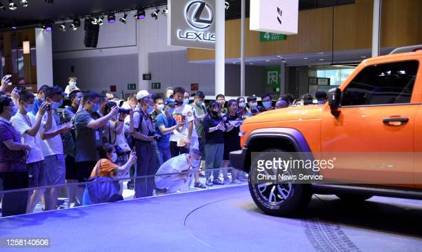 Wey Tank 300 SUV, manufactured by Great Wall Motor Co., is on display during Chengdu Motor Show 2020 at Western China International Expo City on July...