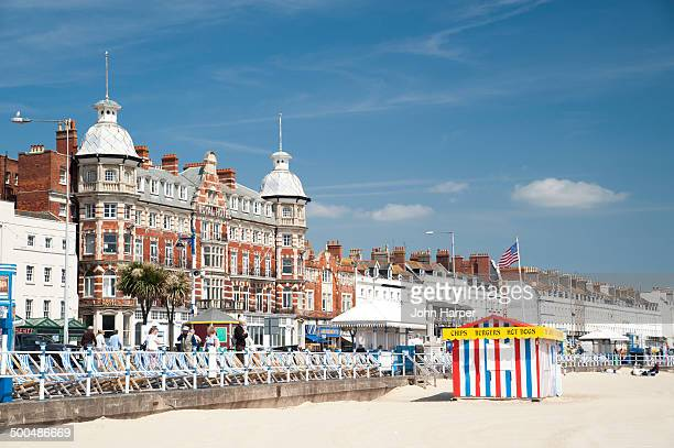 weymouth beach, dorset. - southwest england stock photos and pictures