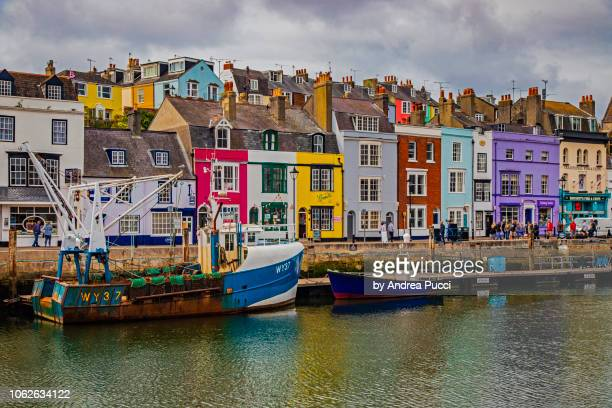 weymouth old harbour, dorset, united kingdom - weymouth dorset stock pictures, royalty-free photos & images