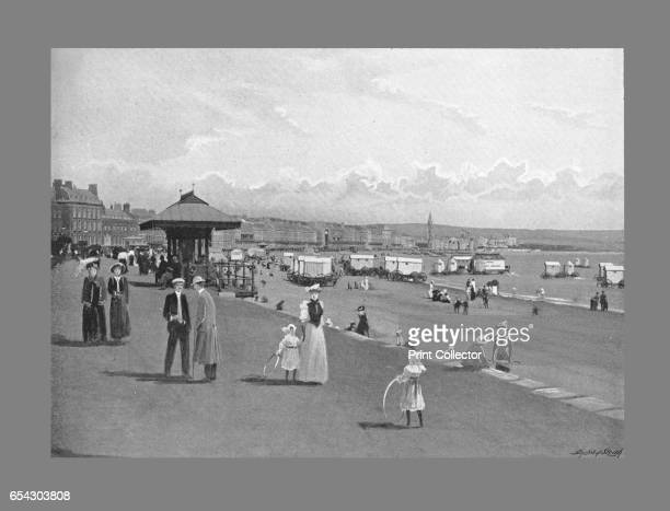 Weymouth seafront c1900 Weymouth Beach is a gently curving arc of sand in Weymouth Bay beside the town of Weymouth in Dorset England From Sights and...