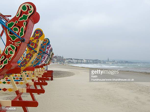weymouth swings - weymouth dorset stock pictures, royalty-free photos & images