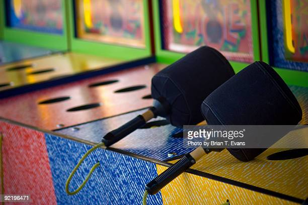 whack a mole mallets - mallet hand tool stock pictures, royalty-free photos & images