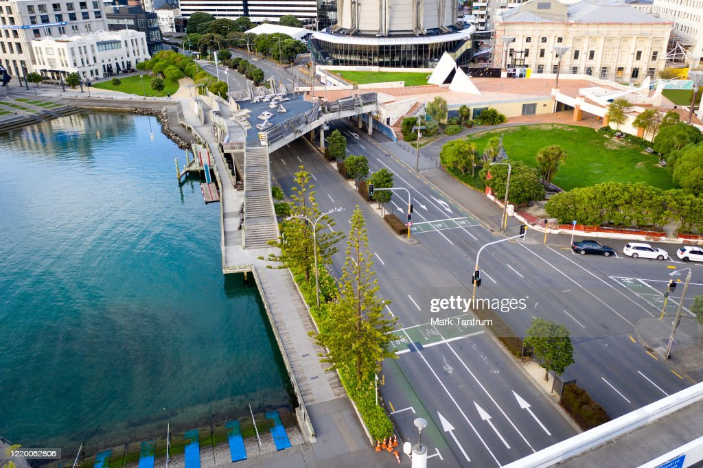 Whairepo Lagoon And Jervois Quay Relatively Deserted During Level 4 News Photo Getty Images