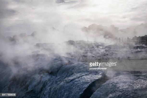 Whakarewarewa Thermal Park in Rotorua, New Zealand