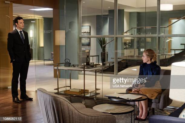 SUITS 'Whale Hunt' Episode 812 Pictured Jake Epstein as Brian Amanda Schull as Katrina Bennett