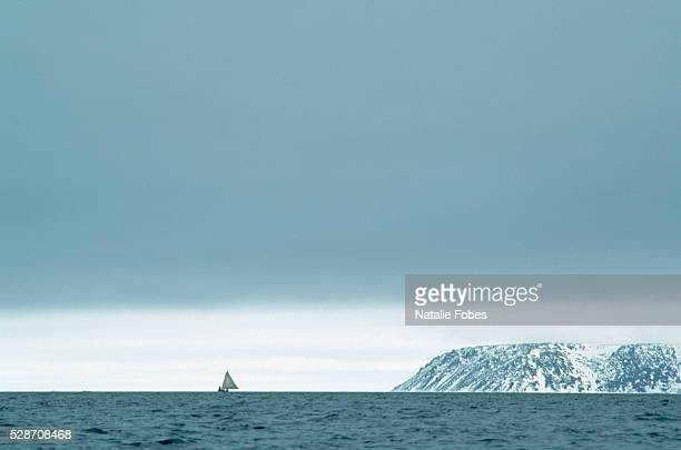 Whaling Boat Sailing in the Bering Sea