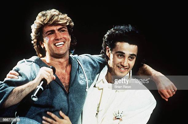 Wham Concert In London, Britain - 1985, George Michael And Andrew Ridgeley