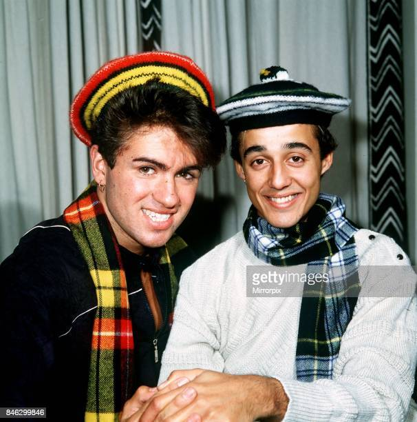Wham pop group at Daily Record Offices Glasgow Scotland 1983