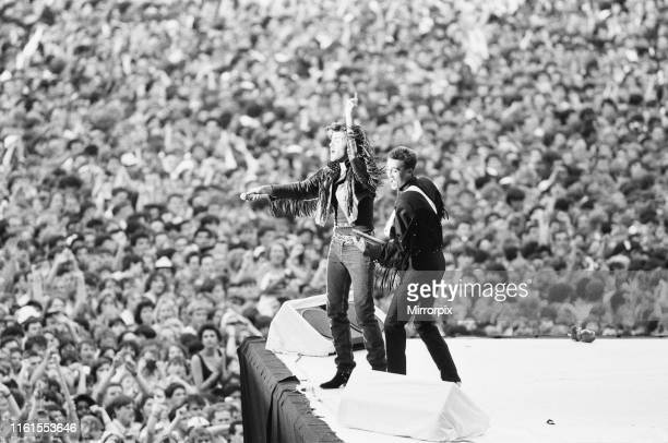 Wham, The Farewell Concert at Wembley Stadium, London England 28th June 1986.