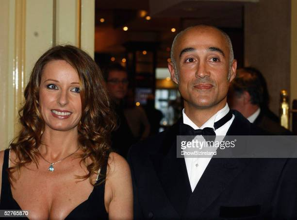 Wham's Andrew Ridgely and wife Bananarama's Keren Woodward attend Keith O'Neill's charity benefit dinner at The Burlington Hotel on May 5 2005 in...