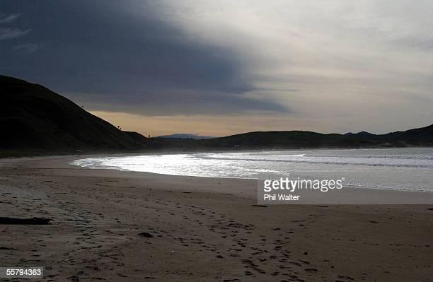 Whangara beach in Gisborne New Zealand where the majority of the film The Whale Rider was set