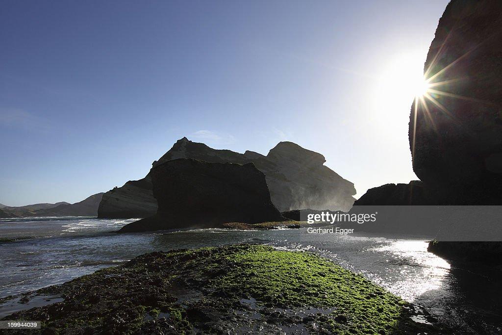 Wharariki Beach : Stock Photo