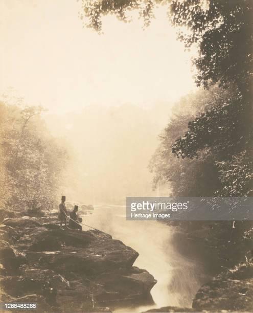 Wharfe and Pool Below the Strid 1854 Artist Roger Fenton