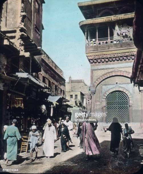 What a crowd on the street Although they are often bumpy usually no patch no pavement but goods via goods silver scarves from Assiut embroidery from...