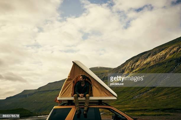was ein toller ort, um in zu sein - camping stock-fotos und bilder