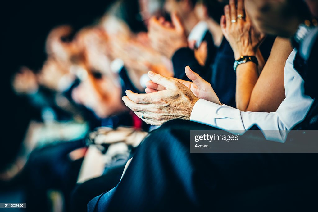 What a great speech! : Stock Photo