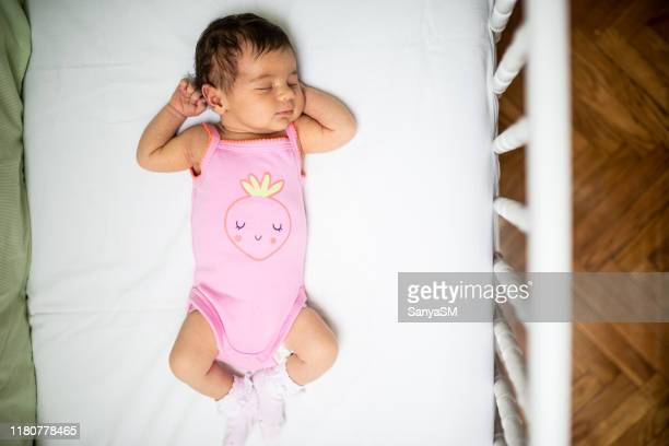 237 Cute Baby Girl Sleeping In White Crib Photos And Premium High Res Pictures Getty Images