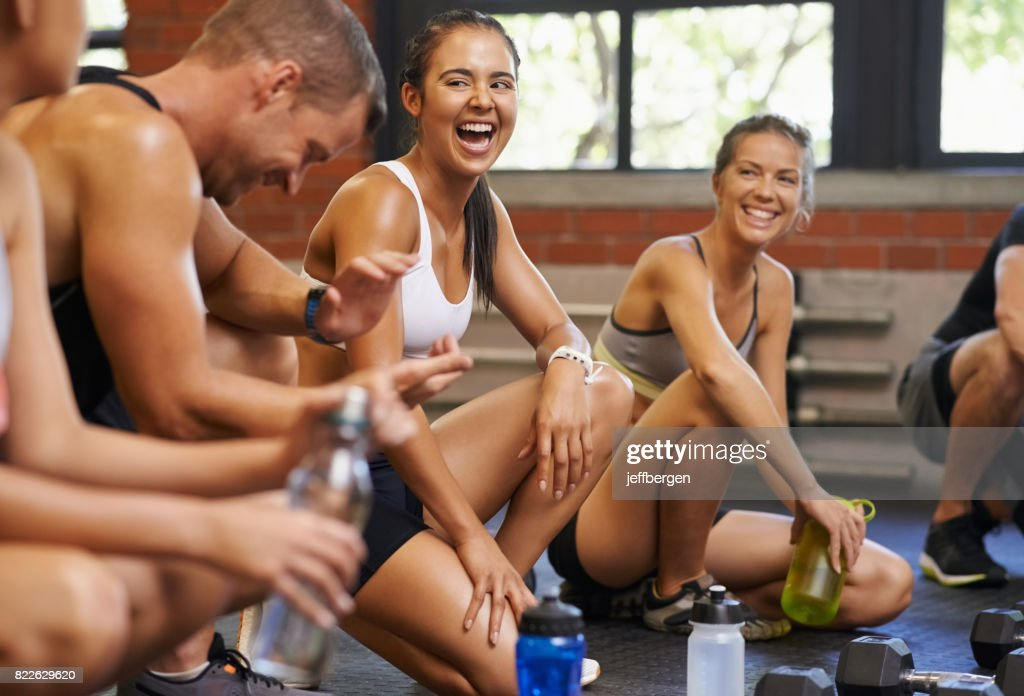 What a workout! : Stock Photo