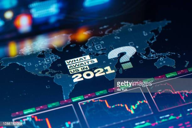what awaits us in 2021 background on world map - 2021 stock pictures, royalty-free photos & images