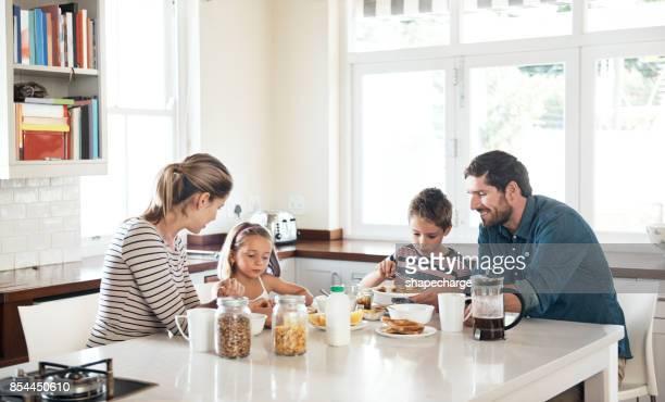 Qué mejor manera de empezar el día que con la familia