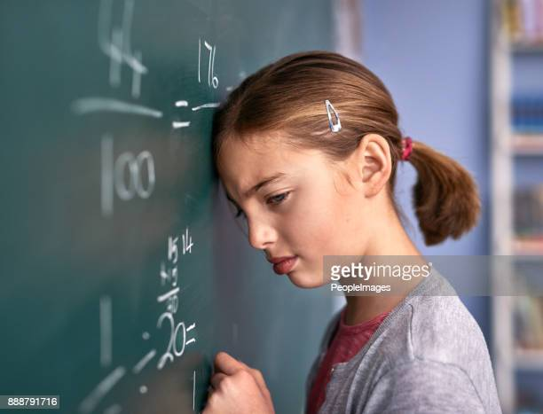 wat deed ik verkeerd? - wiskunde stockfoto's en -beelden
