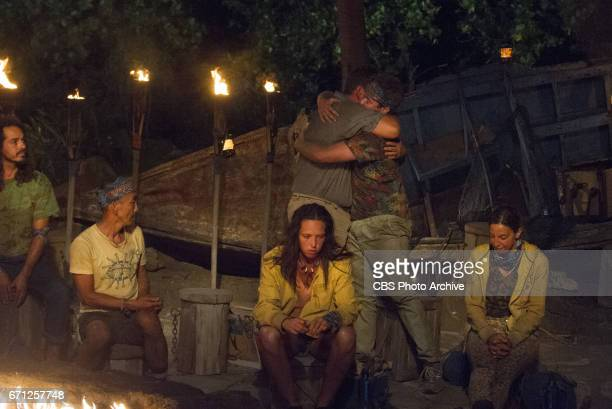 'What Happened on Exile Stays on Exile' Oscar 'Ozzy' Lusth Tai Trang Jeff Varner Sarah Lacina Zeke Smith and Debbie Wanner at Tribal Council on the...