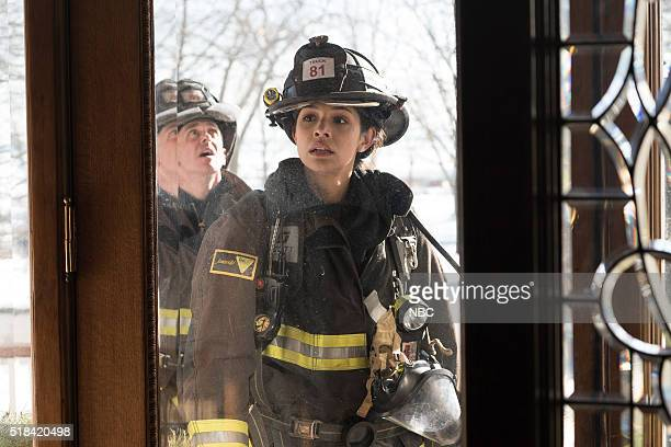 FIRE 'What Happened to Courtney' Episode 417 Pictured David Eigenberg as Christopher Herrmann Miranda Rae Mayo as Stella Kidd