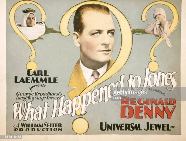 What Happened To Jones US lobbycard Reginald Denny 1926